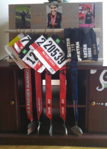 DIY medal & race bib rack